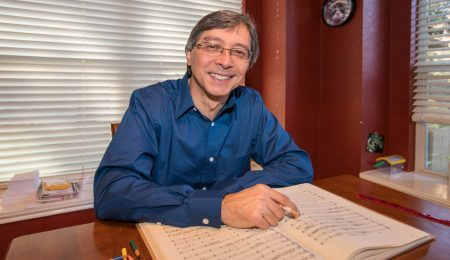 Peter Bay working on a score| ATX UnBound